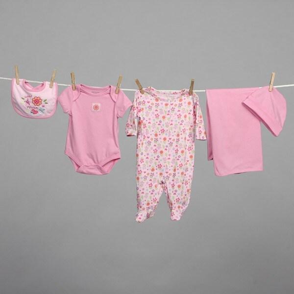 Babyworks Newborn Girl's Pink 5-piece Layette Set