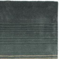 Martha Stewart by Safavieh Ombre Gradient Pewter/ Grey Wool Rug (4' x 6')