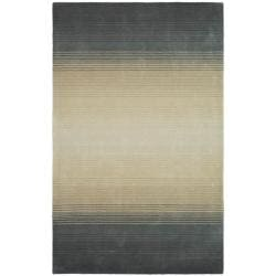 Martha Stewart by Safavieh Ombre Gradient Pewter/ Grey Wool Rug (4' x 6')