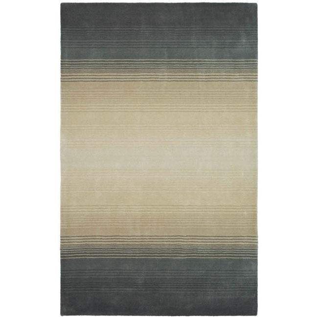 Superb Martha Stewart By Safavieh Ombre Gradient Pewter/ Grey Wool Rug (5u0027 ...
