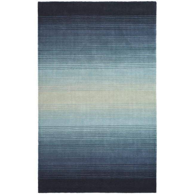 Shop Martha Stewart By Safavieh Ombre Gradient Blue Wool