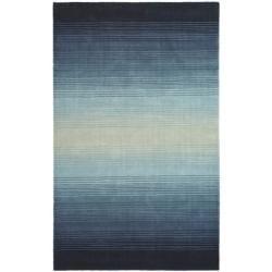 Awesome Martha Stewart By Safavieh Ombre Gradient Blue Wool Rug (5u0027 X 8u0027)