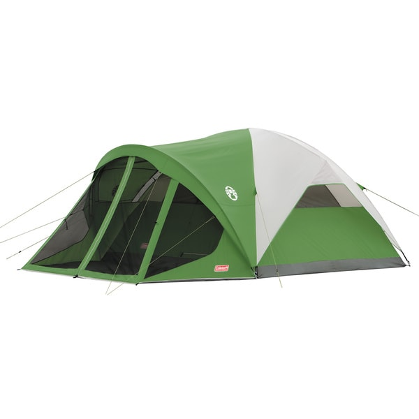 Coleman Evanston Six-person C&ing Tent with Screened Front Porch  sc 1 st  Overstock.com & Coleman Evanston Six-person Camping Tent with Screened Front Porch ...