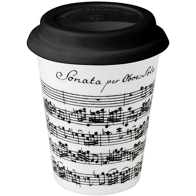 Konitz Vivaldi Libretto White Travel Mugs (Set of 4)