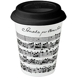Konitz Vivaldi Libretto White Travel Mugs (Set of 4)