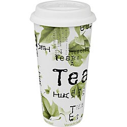 Konitz Tea Collage Large Travel Mugs (Set of 4)