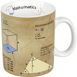 Konitz Science Math Mugs (Set of 4)