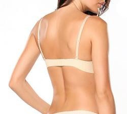 Donna di Capri Women's Nude Seamless Push-up Demi Bra - Thumbnail 1