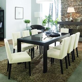 Baxton Studio Elsa Beige Fabric Modern Dining Chairs (Set of 2)