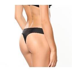 Donna di Capri Sexy Seamless Black Microfiber Thong - Thumbnail 1
