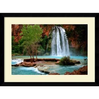 Framed Art Print 'Havasu Falls' by Andy Magee 39 x 29-inch