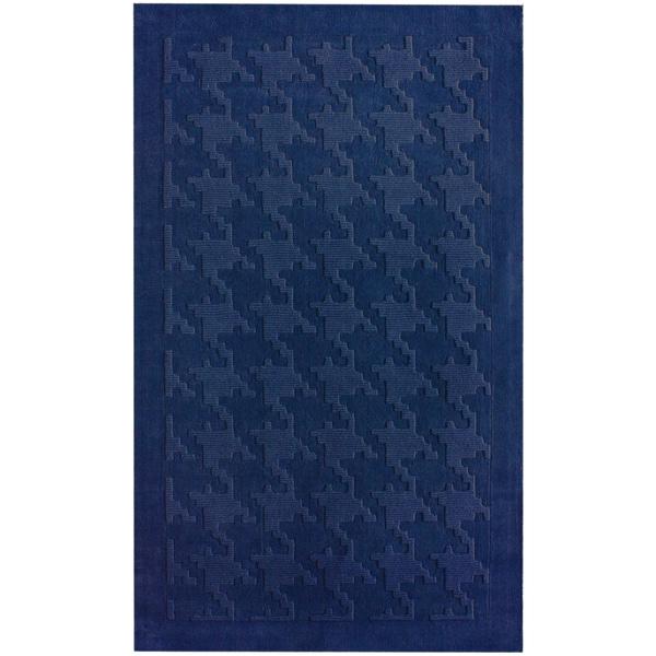 nuLOOM Handtufted Spectrum Houndstooth Purple Wool Rug (7'6 x 9'6)