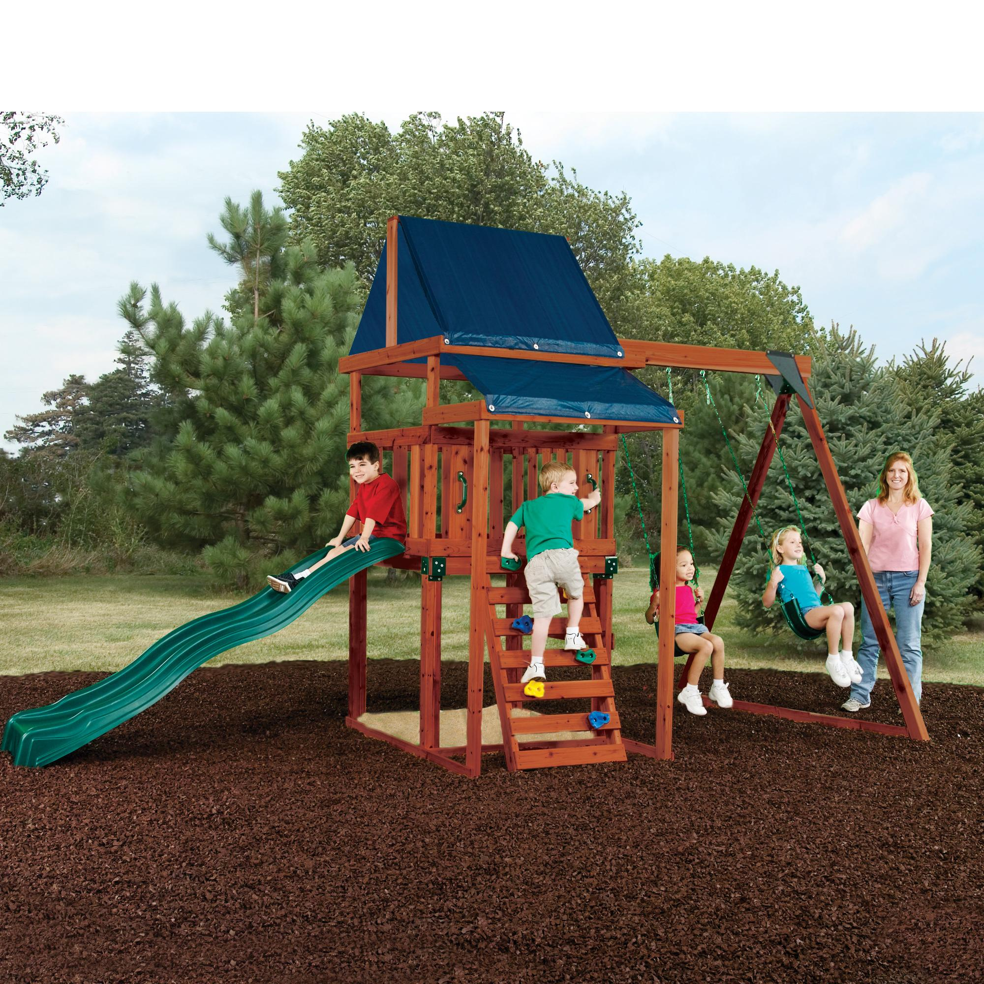 Swing-N-Slide Asheville Wooden Complete Play Set