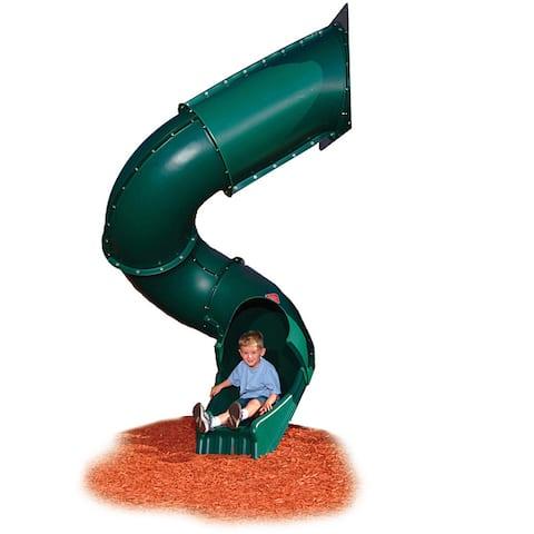 """Swing-N-Slide Green Turbo Tube Slide - 118.75"""" H x 58.69"""" W x 63.44"""" L"""