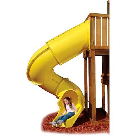 "Swing-N-Slide Yellow Turbo Tube Slide - 118.75"" H x 58.69"" W x 63.44"" L"