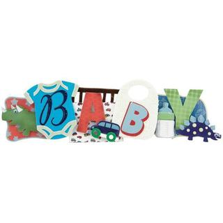 Karen Foster Baby Boy Stacked Statement Sticker