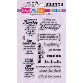 Stampendous Perfectly Birthday Assortment Clear Stamps