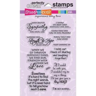 Stampendous Perfectly Clear Sincere Sentiments Stamps