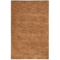 Hand-tufted Fusion Brown Wool Rug (4' x 6') - 4' x 6'