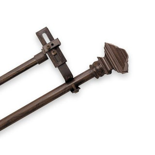 Pinnacle Adjustable Double Curtain Rod Set with Forey Finial