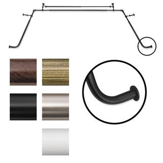 Link to Pinnacle Bay Window 5/8-inch Diameter Double Curtain Rod Set - 5/8 Similar Items in Window Treatments