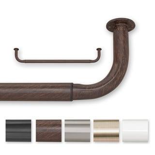Pinnacle Barricade Adjustable Energy Saving Wraparound Curtain Rod 96 to 144-inch
