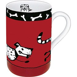 Konitz Mugs Animal Stories Dog (Set of 4)