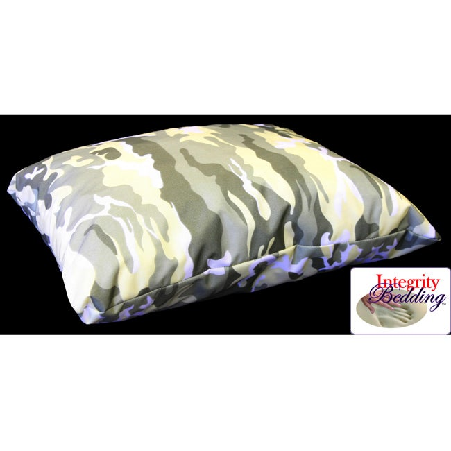 Integrity Bedding Large Camouflage Memory Foam Camping Pillow