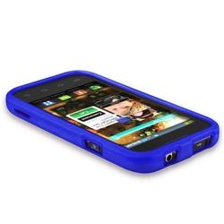 Blue Rubber Coated Case for Samsung Fascinate/ Galaxy S - Thumbnail 2