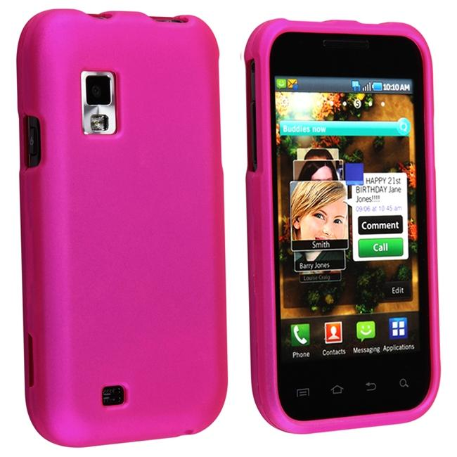 Pink Rubber Coated Case for Samsung Fascinate/ Galaxy S - Thumbnail 0