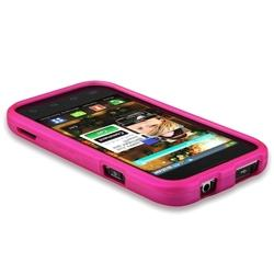 Pink Rubber Coated Case for Samsung Fascinate/ Galaxy S - Thumbnail 2
