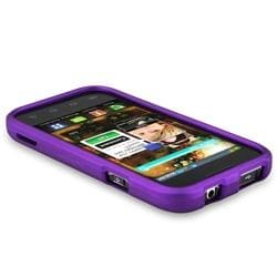 Purple Rubber Coated Case for Samsung Fascinate/ Galaxy S - Thumbnail 2