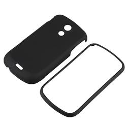 INSTEN Black Rubber Coated Phone Case Cover for Samsung Epic 4G