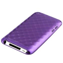 INSTEN Purple Rhinestone TPU iPod Case Cover for Apple iPod touch 4th Gen - Thumbnail 1