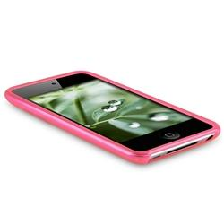 INSTEN Hot Pink TPU Rubber iPod Case Cover for Apple iPod touch 4th Gen - Thumbnail 2