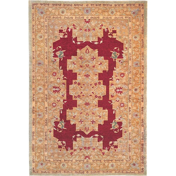 Abbyson Hand-knotted 'Memories' Ivory Wool Area Rug (6' x 9')