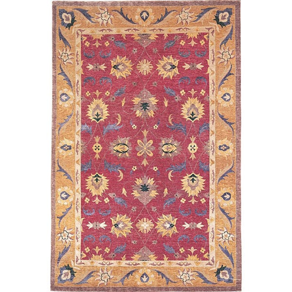 Abbyson Hand-knotted 'Harvest Moon' Gold Wool Area Rug (6' x 9')