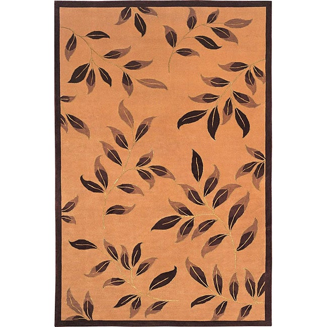 Hand-Knotted 'Serenity' Wool and Silk Area Rug (6' x 9')
