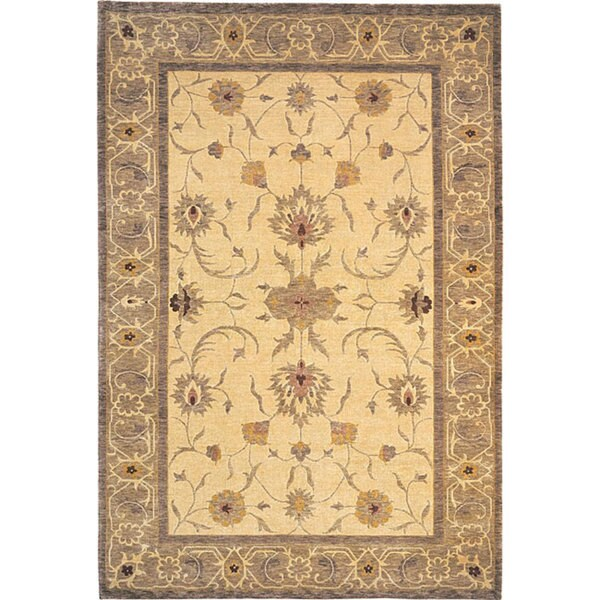ABBYSON LIVING Hand-knotted 'Destiny' Gold Wool Area Rug (6' x 9')