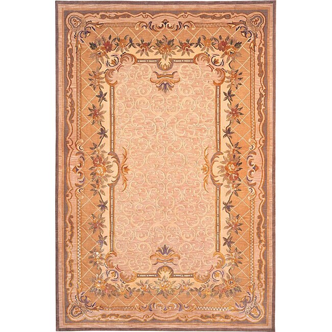 ABBYSON LIVING Hand-knotted 'Himalayan Beauty' Ivory Wool Area Rug (6' x 9')