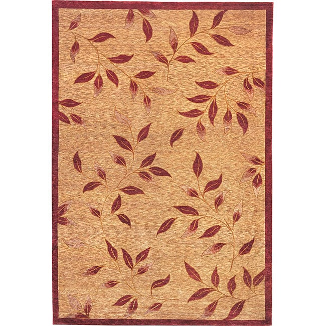 Hand-knotted 'Serenity' Gold Wool Rug (6' x 9')