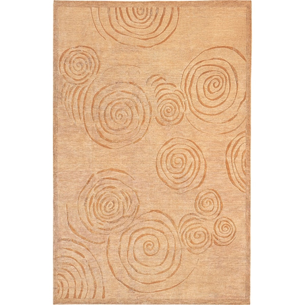 Hand-knotted Napa Himalayan Sheep Wool Rug (6' x 9')