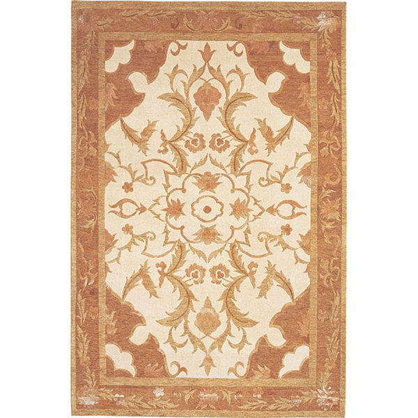 ABBYSON LIVING Hand-knotted 'Napa' Himalayan Sheep Wool and Silk Rug (6' x 9')