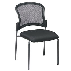 Office Star Visitors Titanium Straight Leg Stacking Chair