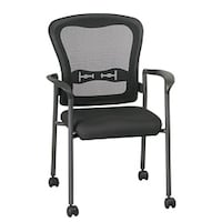 Office Star Visitors Arms And Casters Anium Stacking Chair