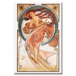 Alphonse Mucha 'Dance (Rose)' Canvas Art