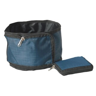Pet Life Blue Wallet Travel Pet Bowl
