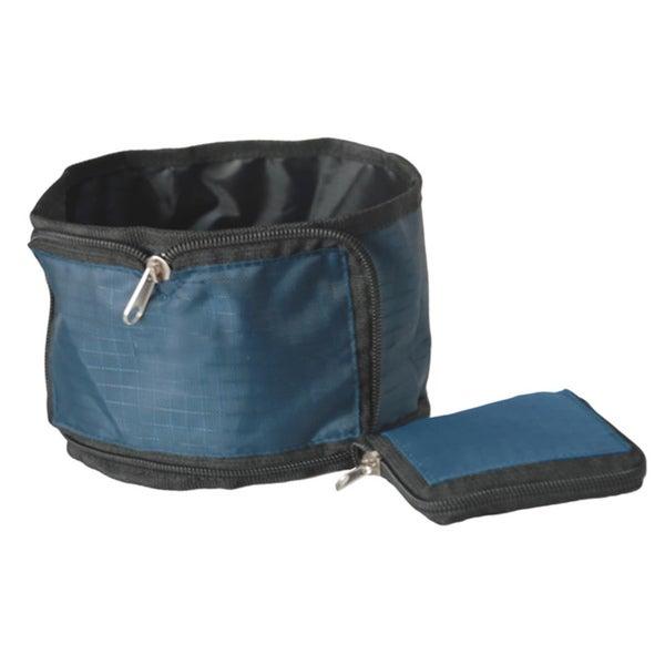 Pet Life Blue Wallet Travel Pet Bowl