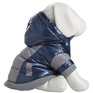 Pet Life Aspen Vintage Dog Ski Coat (Hooded - Blue - Extra Small - Extra Small)