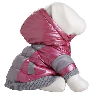 Pet Life Red Aspen Vintage Polyester and 3M Thinsulate Dog Ski Coat Jacket